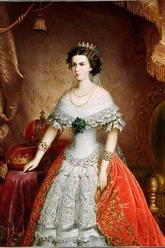 Photographic Print: Portrait of Elisabeth of Bavaria, 1856 by Franz Russ the Elder : 24x16in