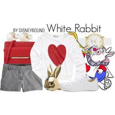 White Rabbit by leslieakay on Polyvore featuring polyvore fashion style Wildfox J.Crew Converse ALDO Kate Spade Lazy Oaf Christian Dior Disney disney aliceinwonderland disneybound disneycharacter