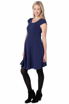 Show off that gorgeous baby bump with Ripe Maternity's Cap Sleeve Skater Dress. Shop now at duematernity.com and receive a free gift automatically with your order. If you live within the United States also receive free shipping! Shop our countless maternity selections today!