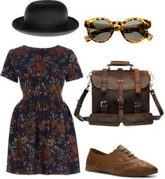 """vintage."" by michellephaam ❤ liked on Polyvore"