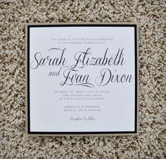 Wedding Invitations - Modern Square. $3.75, via Etsy.
