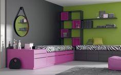 Galería con camas cubo de muebles juveniles JJP