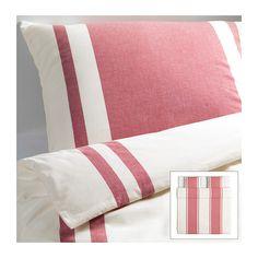 BJÖRNLOKA Funda nórd y 2 fundas almohada IKEA Teñido en hilado. El hilo se tiñe antes de hilarse. El resultado es una ropa de cama de gran suavidad.