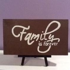 Quote painted on wood