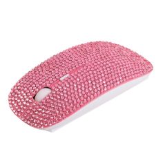 Amazon.com: Crystal Rhinestone Wireless Slimline Flat Laptop Computer Mouse (Pink): Computers & Accessories