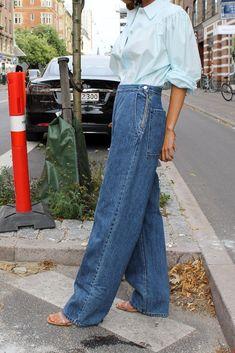 Rachel Comey, Workout Pants, I Dress, Bell Bottom Jeans, Indigo, Mom Jeans, Legs, Clothing, Cotton