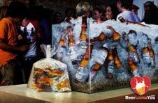 Go Fish? Check out this drink bin for your Super Bowl Party!
