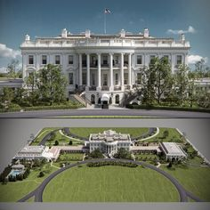 Inside The White House, Us White House, Dream Home Design, House Design, Pinecrest Gardens, White House Washington Dc, Neoclassical Architecture, Mansions Homes, Celebrity Houses