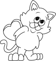 Valentine's Day Coloring Sheets Best Of Valentine S Day Coloring Pages to and Pr. Valentine's Day Coloring Sheets Best Of Valentine S Day Coloring Pages to and Print for Free dibujos faciles Cat Coloring Page, Colouring Pics, Animal Coloring Pages, Coloring Pages For Kids, Coloring Sheets, Coloring Books, Free Coloring, Printable Valentines Coloring Pages, Valentines Day Coloring Page