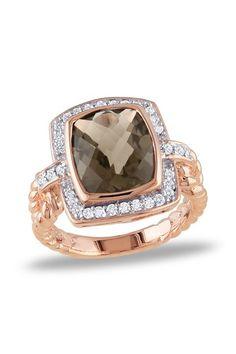Pave Diamond & Smokey Quartz Ring by Rings We Love on @HauteLook