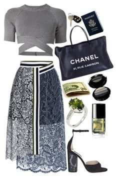 Untitled #702 by brooklynrebelle on Polyvore featuring polyvore fashion style T By Alexander Wang Preen Marc Jacobs Chanel Giorgio Armani Passport clothing