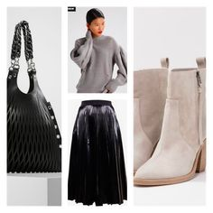 """WYBÓR STYLISTKI Dziś przygotowałam dla Ciebie jesienną propozycję """"total look"""" z ZALANDO (dział premium). Wygodna miejsca stylizacja z otulającym ciepłym swetrem, plisowaną spódnicą i skórzanymi akcesoriami -wyraziste zestawienie.  Spódnica: Smarteezhttps://www.zalando.pl/smarteez-spodnica-trapezowa-black-s1e21b006-q11.html Sweter: Won Hundredhttps://www.zalando.pl/won-hundred-sweter-silver-wo321i00i-d11.html Torba Shopper: Sonia Rykiel:https://www..."""