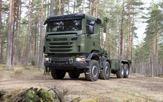 Download wallpapers Scania R730, 8x8, V8, military truck, turbocharged diesel engine, Scania CrewCab