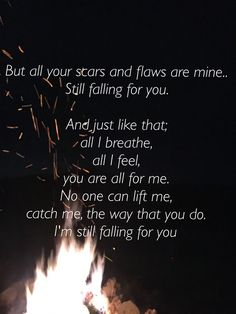 Still Falling For You ~ Ellie Goulding Fall For You Lyrics, Falling For You Quotes, Still Falling For You, Music Love, Music Is Life, Best Love Quotes, Quotes To Live By, Cute Romance, Lyric Quotes