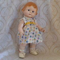 Amberg Composition Character Doll - Lynette Gross Antique Dolls, LLC #dollshopsunited