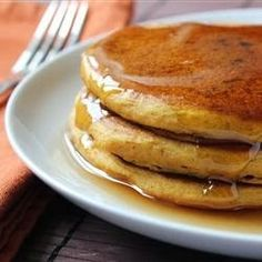 Pumpkin Pancakes - These are good any season but taste best on cold winter mornings. You can use canned or cooked fresh pumpkin