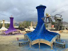 New Archetypes: Ball-Nogues Rock Coachella With a Paper-Pulp Pavilion - Architizer
