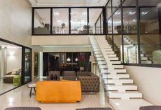 escada moderna branca guarda corpo de vidro blog assim eu gosto
