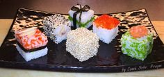 Rice cubes by Janek Sobr, sushi chef from Prague #sushi #sushicube #sushiart #ricecube #cube