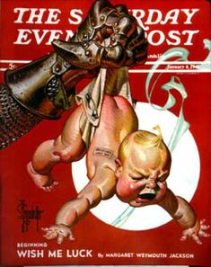 Happy New Year 1941-01-04: New Year and Warring Fist (J.C. Leyendec... Saturday Evening Post