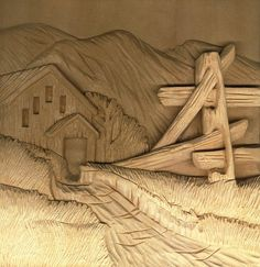 Free wood carving, pyrography, and craft step by step projects and line art patterns by Lora S. Irish, author of Wildlife Carving in Relief