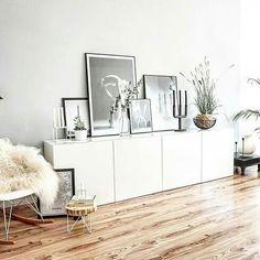 40 Ideas For Living Room Ikea Besta Bedrooms Home Living Room, Apartment Living, Living Room Decor, Living Spaces, Dining Room, Living Room Inspiration, Interior Inspiration, Home Furniture, Furniture Design