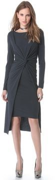 Donna karan new york Cross Drape Knot Dress on shopstyle.com