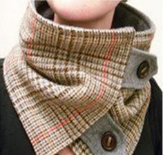Lots of neck warmer ideas for winter. (No patterns) Neat idea for winter riding, scarves slide off.