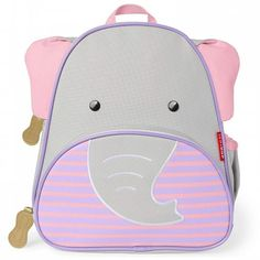 Your child can keep all their favourite snacks, toys and books within easy reach, thanks to this fabulous Evie Elephant Backpack from Skip Hop. Mochila Skip Hop, Newborn Sleeping Bag, Skip Hop Zoo, Safari, Swing Tags, Elephant Design, Rain Wear, Cotton Bag, Maternity Wear