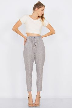 Ellie High Waist Trousers - MOD&SOUL Fashion Clothing and Jewelry  - 1