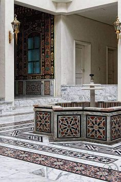 السفارة السورية في مدينة بون الألمانية #فن_معماري_دمشقي