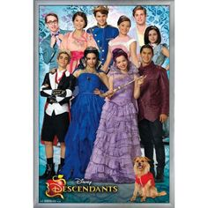 Decorate your little one's empty wall space with the Trends International Descendants Group Framed Wall Poster . Featuring the cast of Disney's. Costume Descendants, Descendants Wicked World, Descendants Characters, Disney Channel Descendants, Disney Descendants 3, Descendants Cast, Descendants Pictures, Disney Movie Posters, Disney Movies