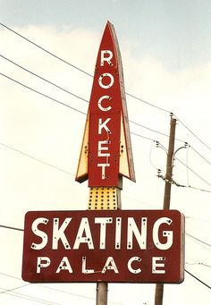 Rocket Skating Palace sign    - Cockrell Hill Road, Cockrell Hill, Texas, USA
