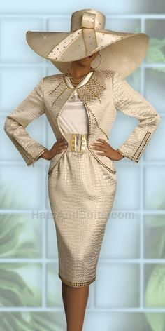 mother of the bride Donna Vinci Couture Womens Church Suit 5371 Church Attire, Church Suits, Church Dresses, Turban, Church Fashion, Fancy Hats, Big Hats, Stylish Hats, Mode Style