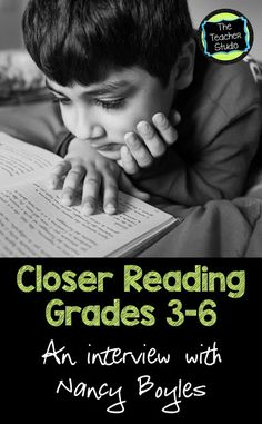 """Close Reading"" is a huge buzzword right now.but read this guest post by the best selling author Nancy Boyles to see if you know the true ins and outs of what it is! Reading Tips, Reading Lessons, Close Reading, Guided Reading, Teaching Reading, Library Lessons, Writing Lessons, Reading Room, Reading Skills"