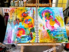 Hands and Heart: Abstract Art journal Pages