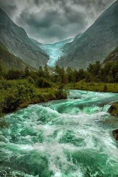 Briksdalsbreen Glacier, Norway ☆