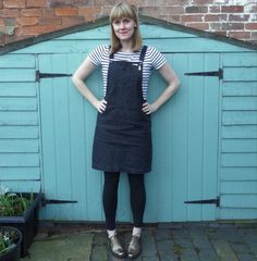 Dressmaking in my spare time: Cleo Dungaree Dress | Shirley Rainbow