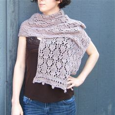 Thistledown Stole Knitting Pattern by Moth & Rust... available as a pdf download!  $5.00