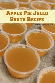 I love that Crown Royal Apple is listed as produce LOL Apple Pie Jello Shots Recipe. This Apple Pie Jello Shot recipe is a taste of fall in a party shot! Simple to make, these Apple Pie Jello Shots are great for parties, tailgating, and more! Thanksgiving Recipes, Fall Recipes, Holiday Recipes, Delicious Recipes, Milk Shakes, Gelatina Jello, Jello Pudding Shots, Alcohol Jello Shots, Jello Shots With Fireball
