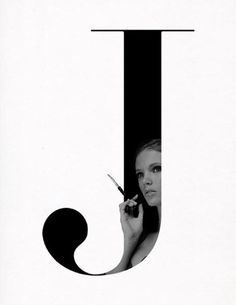 "I think this is a great combination of fashion photography and typography. What I found most interesting about it, is the way that the curve of the ""J"" isn't lost in the arm of the model. They work as one image rather than separately."