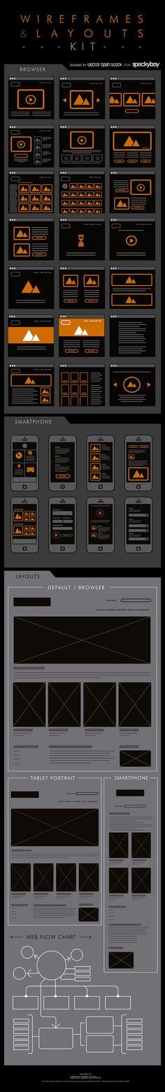 The Free Web and Mobile Wireframing & Layout Kit  Design Speckyboy Design Magazine #MobileWebDesign