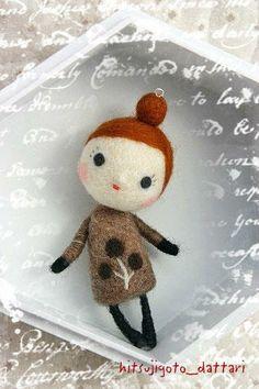 羊ごとだったり・・・super cute little mi of moomins style kawaii felt art doll figure Needle Felting Tutorials, Felt Fairy, Fairy Dolls, Wet Felting, Felt Toys, Soft Sculpture, Felt Animals, Softies, Felt Crafts