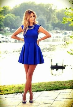 Really fabulous Blue Dress, LOVE it