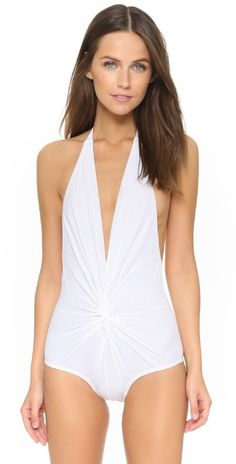 54f6d6233ecea Karla Colletto Plunge Back One Piece Swimsuit | SHOPBOP One Piece Swimwear, One  Piece Swimsuit