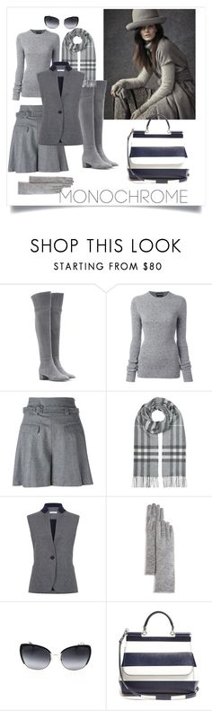 """""""Gris Monochrome"""" by salypimienta on Polyvore featuring Gianvito Rossi, Tom Ford, Diane Von Furstenberg, Burberry, Atea Oceanie, C by Bloomingdale's and Dolce&Gabbana"""