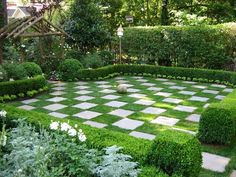 Best Ideas For Formal Garden Design - In this article we will discuss how to design a strictly formal garden on a large, rectangular area. Designing formal garden needs a little bit of hard work o No Grass Backyard, Small Backyard Landscaping, Landscaping Ideas, Patio Ideas, Mulch Ideas, Nice Backyard, Desert Backyard, Inexpensive Landscaping, Country Landscaping