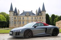"106 Likes, 3 Comments - @gentlemendrive on Instagram: ""The Audi R8 Spyder in front of the beautiful Chateau Pichon // #gentlemendrive #magazine #subscribe…"""