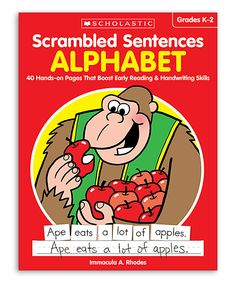 Grades K-2 Scrambled Sentences: Alphabet Workbook