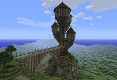 Tower in Minecraft